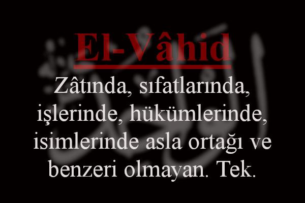 El Vahid Esmaül Hüsna